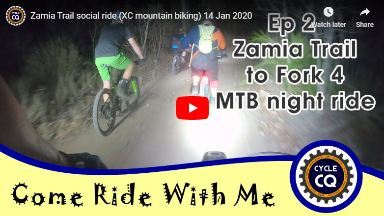 Zamia Trail mountain bike ride 14 Jan 2020 - click to watch on YouTube